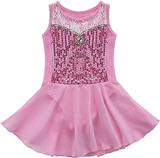TiaoBug Girls Sequins Ballet Dance Dress Gymnastic Leotard Skirt Ballerina Tutu Dancewear Costume