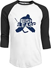 Men's TB Lightning #30 Ben Bishop 3/4 Sleeve Raglan Baseball T-Shirt RoyalBlue