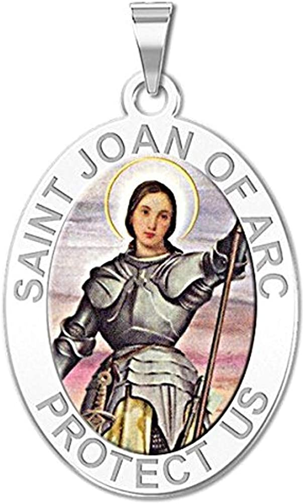 PicturesOnGold.com Saint Joan of Arc Religious 3 Special sale item Color 2 5 ☆ very popular Medal -