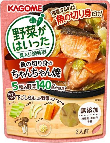 カゴメ 野菜がはいった具入り調味料 魚の切り身のちゃんちゃん焼き 170g ×5袋