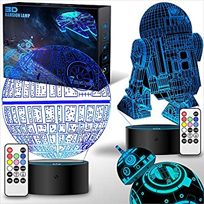 MOSSOM Star Wars Gifts 3D Lamp