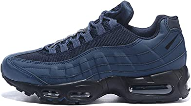 U'C Air 95 Men's Running Shoes Fashion Breathable Sneakers Soft Sole Casual Athletic Lightweight Walking Shoes Dark Blue