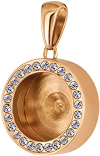 Quiges Necklace Locket for Interchagenable Mini Coins Made of Stainless Steel in for Women