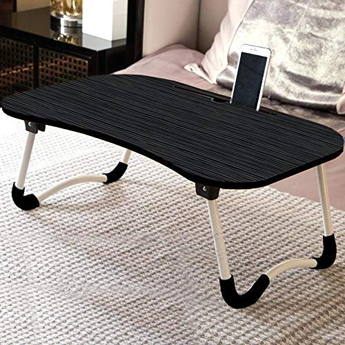 ONE EAGLE Foldable Bed Study Table Portable Multifunction Laptop Table Lapdesk for Children Bed Foldabe Table Work Office Gaming Home with Tablet Slot & Cup Holder Bed Study Table Gold