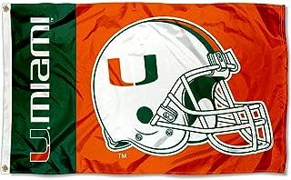 University of Miami Helmet Flag Large 3x5