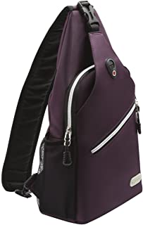 MOSISO Sling Backpack, Multipurpose Crossbody Shoulder Bag Travel Hiking Daypack, Purple