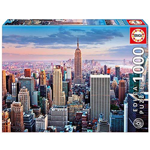 Educa - Manhattan, Nueva York Puzzle, 1000 Piezas, Multicolor (14811)
