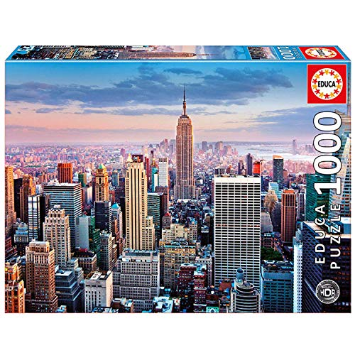 Educa EB14811 14811 14811-Puzzle-Manhattan, New York-HDR, 1000-Teilig