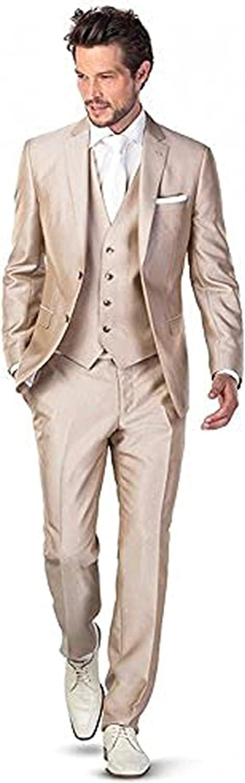 Fenghuavip 2 Washington Super sale Mall Button 3 Pcs for Suits Mens Champagne