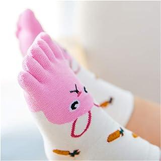 WanXingY, Calcetines de Cinco Dedos Calcetines de Navidad Calcetines de Percibidos for Niños Algodón Animales Animales Chicas Calcetines (Color : Type 2, Size : 7 12 Year)