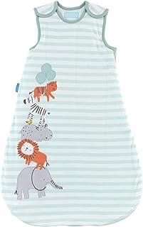 The Gro Company - Saco de dormir para bebé con motivos de animales de la selva azul Talla:0-6 meses