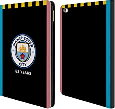 Official Manchester City Man City FC Away 2019/20 Badge Kit Leather Book Wallet Case Cover Compatible for iPad Air 2 (2014)