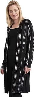 Joseph Ribkoff Schwarz/Silber Knit Cover Up Style 203097