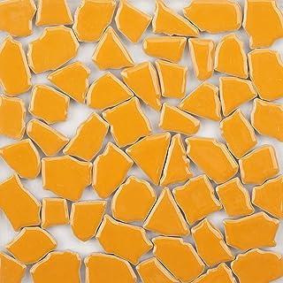 Mosaic Tiles Mixed Color Mosaic Glass Pieces Ceramic Mosaic for Home Decoration or DIY Crafts 200 g Irregular Shape 0.6x1....