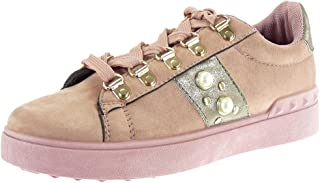 Angkorly Chaussure Mode Basket Compensée basse Femme perle