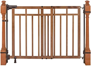 top of stairs gate with banister