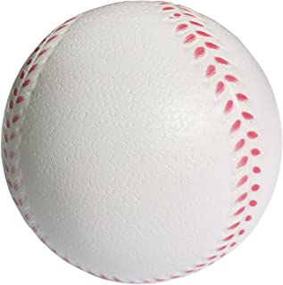 B1ST Practice Baseballs Foam Softballs Training Sporting Batting Soft Ball for Children Teenager Players White 11 Inch Pack of 6