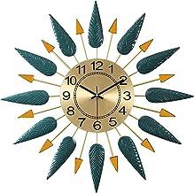 Wall Clock ساعة الحائط الصينية الإبداعية ساعات الحائط المعدنية اليدوية رسمت الحديد المطاوع كتم ساعة كتم مكتب الفصول الدراس...