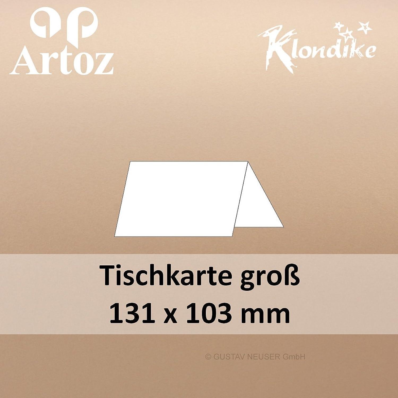100 Stk.      Artoz Klondike glänzende Tischkarten groß    titan - braun    131 x 103 mm    metallisch - Edelstein Glanz B013UMC9SA | Qualität und Quantität garantiert  52a7a1