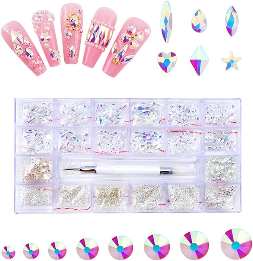 Y-YUNLONG Ranking TOP5 Nail Art Crystal Set Class Rhinestone Gems New products world's highest quality popular Multi-Shape