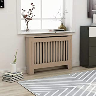 UnfadeMemory Cubierta de Radiador,Mueble para Radiador,Cubierta de Calefacción,MDF (Madera Natural,Diseño Vertical, 112x19x81cm)