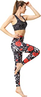 Yoga pants High Waisted Yoga Pants Printed Workout Sport Leggings Tummy Control Yoga Leggings for Running JFYCUICAN (Color...