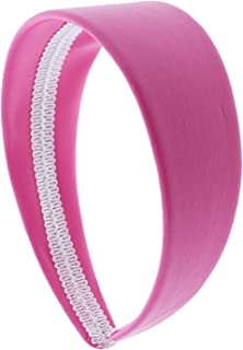 2 Inch Wide Leather Like Headband Solid Hair band for Women and Girls - Hot Pink