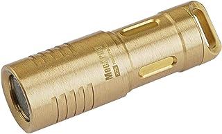 MecArmy X3S EDC Mini sleutelhanger koper / messing met micro-USB-oplaadfunctie | Draagbare zaklamp, oplaadbaar voor elke d...