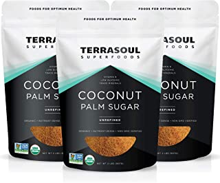 Terrasoul Superfoods Organic Coconut Sugar, 6 Lbs (3 Pack) - Low Glycemic | Unrefined | Trace Minerals