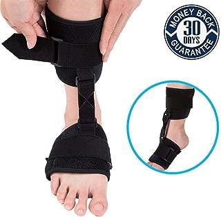 Foot Drop Brace,Nicehel Dorsal Night Splint Foot Drop Orthotic Brace Soft Ankle Foot Orthosis (AFO) for Foot Drop