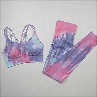 YOUPIN 2021 2PC Seamless Women Yoga Set Workout Sportswear Gym Clothing Fitness Clothes Sports Bra High Waist Leggings Spo...