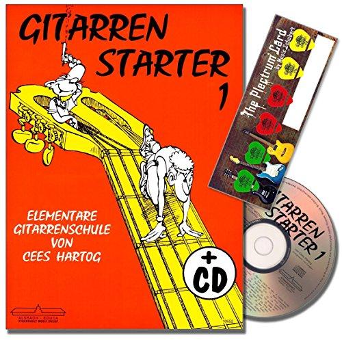 Gitarrenstarter Band 1 - Gitarrenschule mit CD für Anfänger von Cees Hartog - mit Musik-Schubert Plektrum-Card©