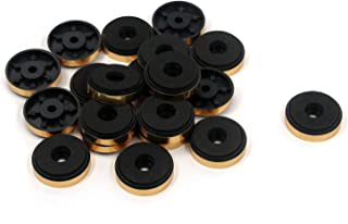 Karcy Speaker Spike Pads Speaker Spikes Floor Protector Gold Plastic Sponge 1.2x1//3 DxH Pack of 20