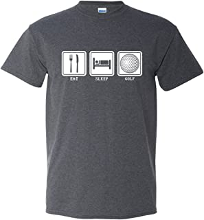 Eat Sleep Golf Retired Club Course Put Put Funny Sports Men's Adult T-Shirt