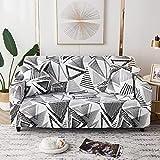 Fundas elásticas geométricas para sofá, Fundas elásticas para sofá para...