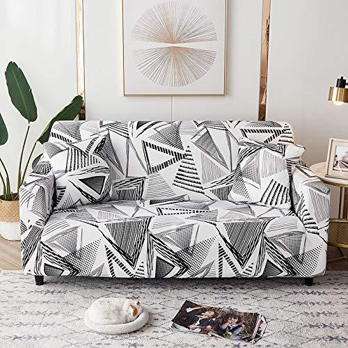 Fundas elásticas geométricas para sofá, Fundas elásticas para sofá para Sala de Estar, Funda para sofá, Silla, Funda para sofá, decoración del hogar, A5, 3 plazas