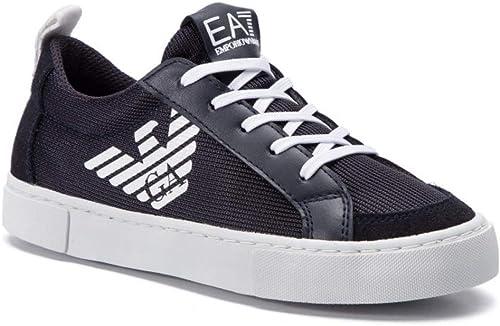 Emporio armani sneakers in tessuto con logo laterale uomo XSX005