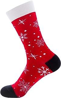Ceally, Un par de Calcetines con estampado navideño, calcetines cálidos de invierno para damas y niñas.