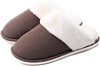 posee Mousse Fuzzy & Cozy Indoor Slippers, Knitted Warm Indoor Shoe with Bouncing Foam and Faux Fur, Non-Slip Winter Slide-On Slippers for Women and Men, Fashionable House Shoes