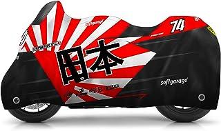 softgarage® Moto Race Design redsun Outdoor Motorradabdeckung Faltgarage Abdeckplane Schutzhülle Regenfest Winterfest Staubdicht 508 A026479