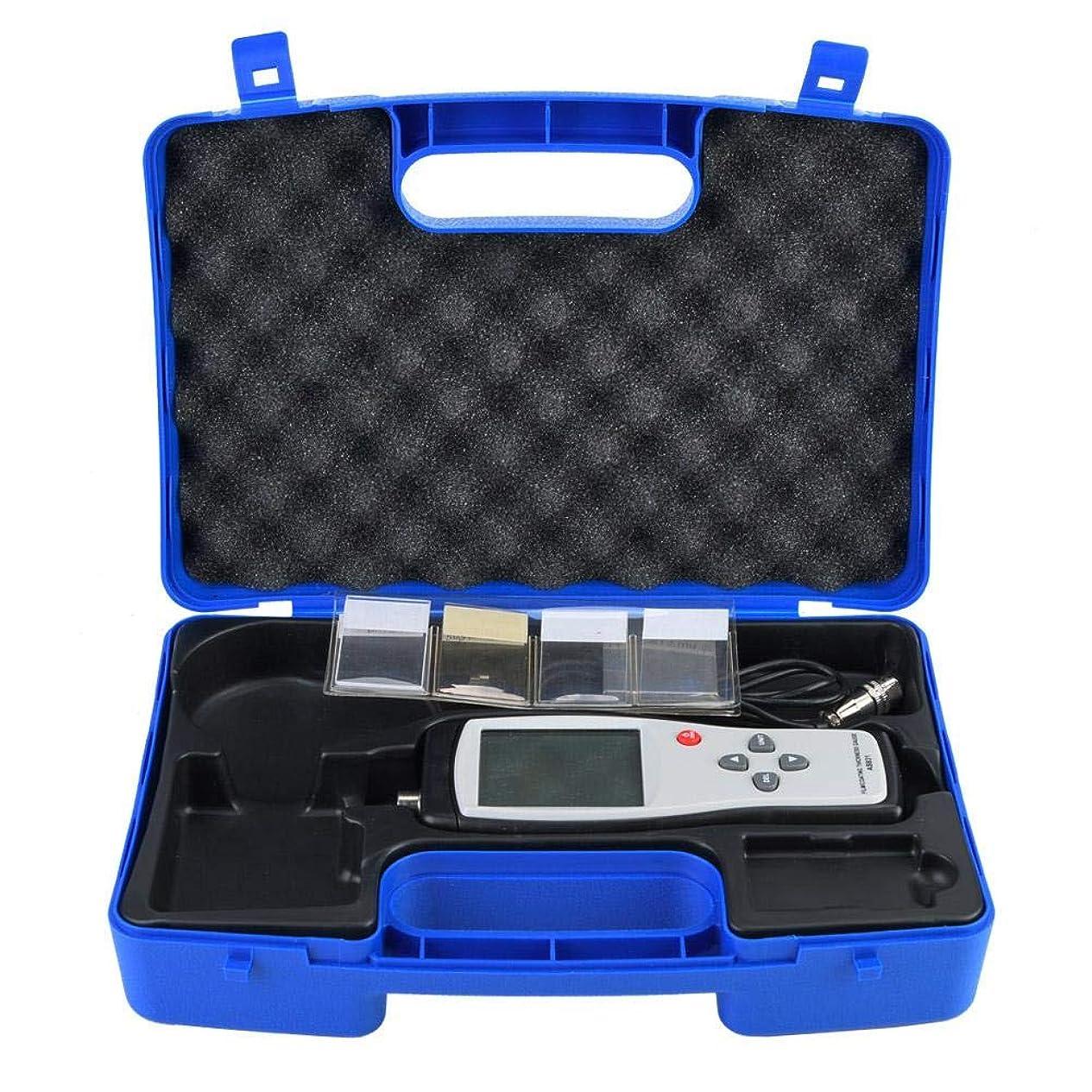 同志妥協第五デジタルコーティング厚さゲージ、AS931デジタルコーティング厚さゲージ鉄ベースの厚さテスターメーター0?1800um、LCDディスプレイ、測定範囲:0?1800μm
