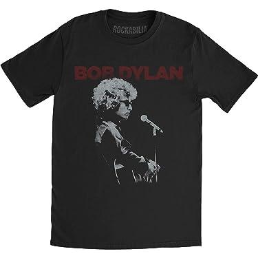 Bob Dylan Men's Sound Check Slim Fit T-Shirt Black