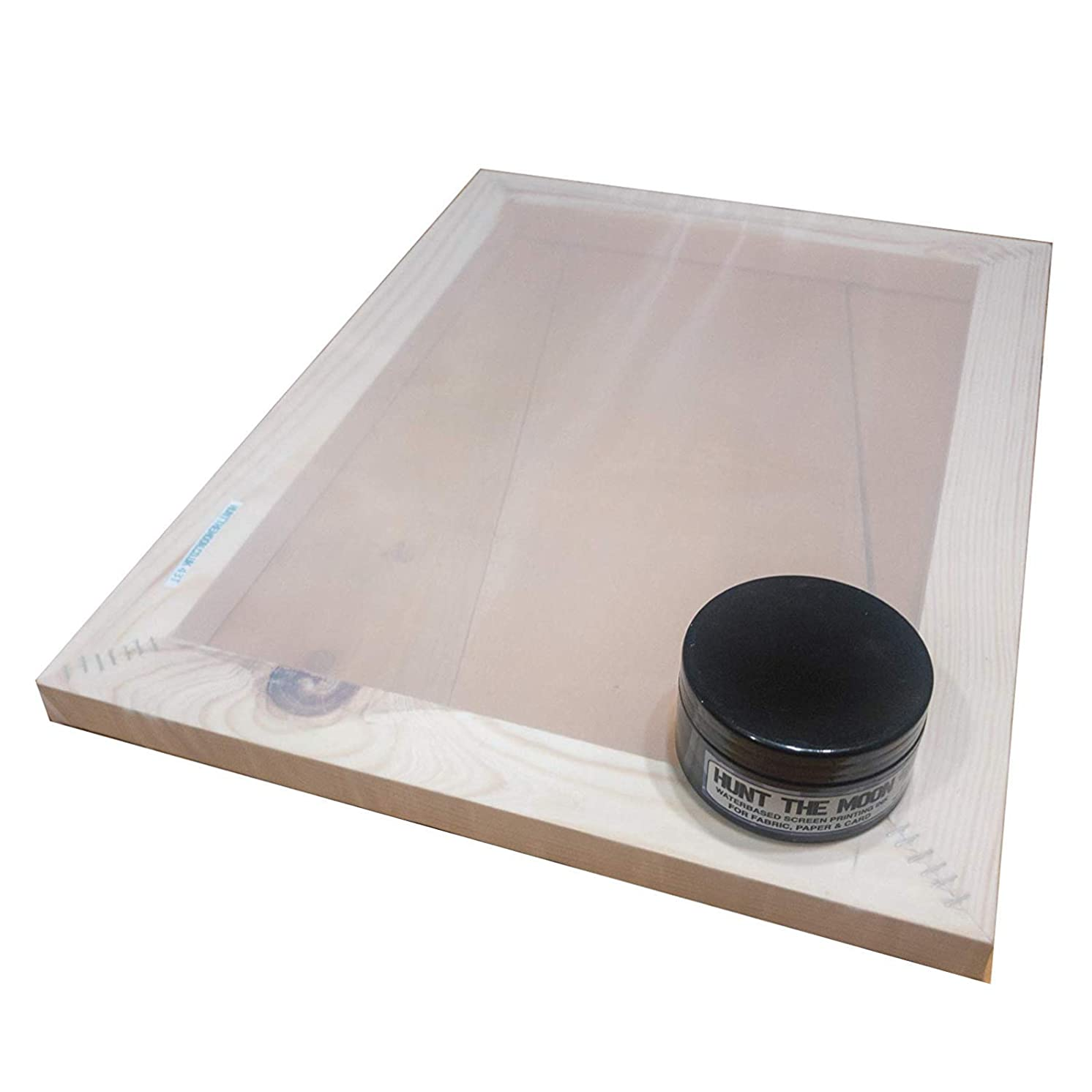 Hunt The Moon Screen Printing Frame and Ink Kit, Wooden, Medium A4 120t
