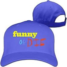 GXGML Funny Or Die Logo Unisex Fashion Adjustable Pure 100% Cotton Peaked Cap Sports Washed Baseball Hunting Cap Fashion Bombe Pink