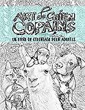 Art de chien: Copains: Un livre de coloriage pour adultes