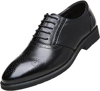 [テンシオ] ビジネスシューズ メンズ 本革 ブローグ 革靴 紳士靴 レースアップ 内羽根 メダリオン