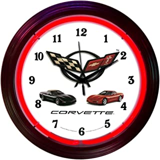 Neonetics Cars and Motorcycles Corvette C5 Neon Wall Clock, 15-Inch