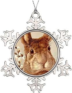 Yilooom Tree Branch Decoration Vintage Easter Rabbit Wildlife Snowflake Ornaments Canada