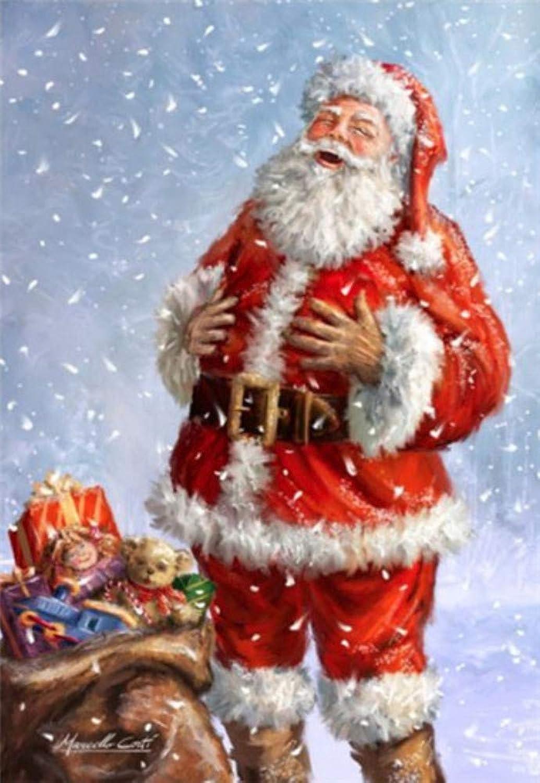 Tu satisfacción es nuestro objetivo DIY Pintura de Diamante de Papá Noel rojoondo Completo Completo Completo Mosaico Diamante para la Decoración de Invierno de Punto de Cruz Rhinestones Patrón S6 80X100cm  oferta de tienda