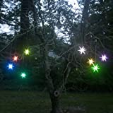 Mr. Light 4 inches Frosted Starburst Outdoor Lighted Ornament - Color Changing LED with Timer